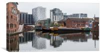 Reflections of Gas Street Basin, Canvas Print