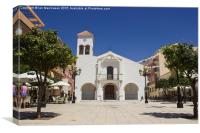 A local Spanish Church in Rincon de la Victoria, Canvas Print