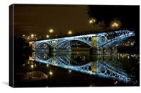 Sevilla - Spain - Triana Bridge by Night, Canvas Print