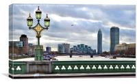 London - England - Westminster Bridge, Canvas Print