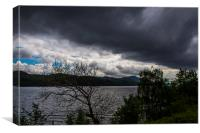 View of Loch Ness, Scotland, Canvas Print
