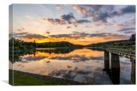 Kennick Reservoir Sunset, Canvas Print