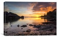 Churston Cove Sunrise, Canvas Print