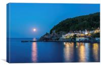 Babbacombe by Moonlight, Canvas Print