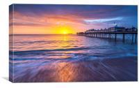 Paignton Pier at Sunrise, Canvas Print