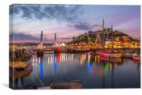 Torquay Harbour at Twilight, Canvas Print