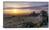 Great Staple Tor, Dartmoor, Canvas Print