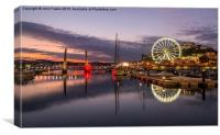Twilight at Torquay Harbour, Canvas Print