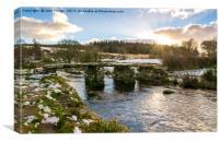 The Clapper Bridge, Postbridge, Dartmoor, Canvas Print