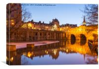 Pulteney Bridge, Bath at Twilight, Canvas Print
