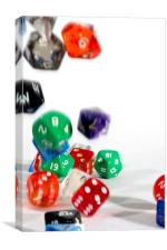 Tumbling Dice II, Canvas Print