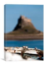 Rotting boat on Holy Island, Canvas Print