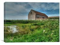 Abandoned barn, Canvas Print