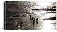 Beach Folk, Canvas Print