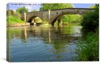 The River Derwent Bridge at Stamford Bridge, Canvas Print
