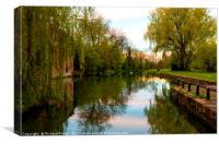 Pocklington Canal Head, Canvas Print