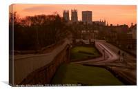 Lendal Bridge and York Minster., Canvas Print