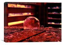 Frozen Amber Bubbles by Teresa Cooper, Canvas Print