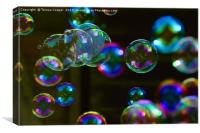 Blowing Bubbles Floating in the Air, Canvas Print