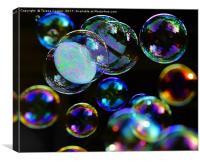 Floating Bubbles , Canvas Print