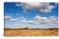 Blue sky cloudscape rural landscape , Canvas Print