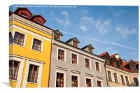 Tenement houses with attic, Canvas Print