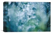 Blue green defocused circles, Canvas Print