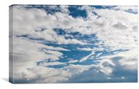 Growing Cumulus clouds formation, Canvas Print