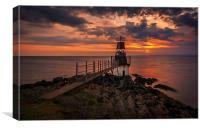 Portishead Lighthouse, Canvas Print