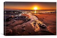 Rest bay sunset, Porthcawl, Canvas Print