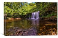 Sgwd Ddwli Uchaf, Brecon Waterfalls, Canvas Print