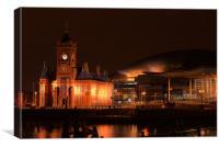 Cardiff bay,  Pierhead building and Senedd , Canvas Print