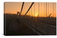 Sunrise at Clifton Suspension bridge , Canvas Print