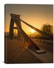 Sunrise at Clifton Suspension bridge , Canvas Print
