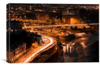 Bristol from the Clifton suspension bridge, Canvas Print