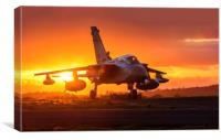 Swansea airport Panavia Tornado GR. 1 aircraft za3, Canvas Print