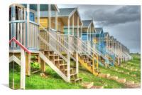 HDR Beach Hut, Canvas Print