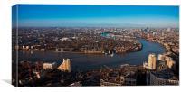 London skyline River Thames, Canvas Print