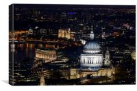 St Pauls skyline at night, Canvas Print