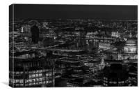 London city skyline at night, Canvas Print