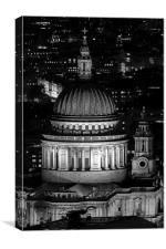 St Pauls at night, Canvas Print