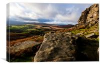 The Peak District Stanage Edge, Canvas Print