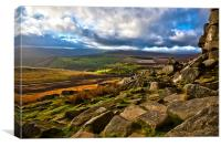 Stanage Edge The Peak District, Canvas Print