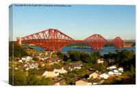 The Forth Rail Bridge, Canvas Print