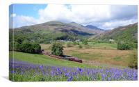 Welsh Highland Railway at Beddgelert in springtime, Canvas Print