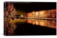 Fradley Canal Junction, Canvas Print