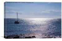 Yatch at sea, Canvas Print