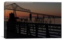 Astoria Sunset Oil Painting Style, Canvas Print