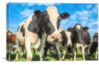 Nosey Cows, Canvas Print