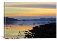 Loch Fyne Sunset, Canvas Print